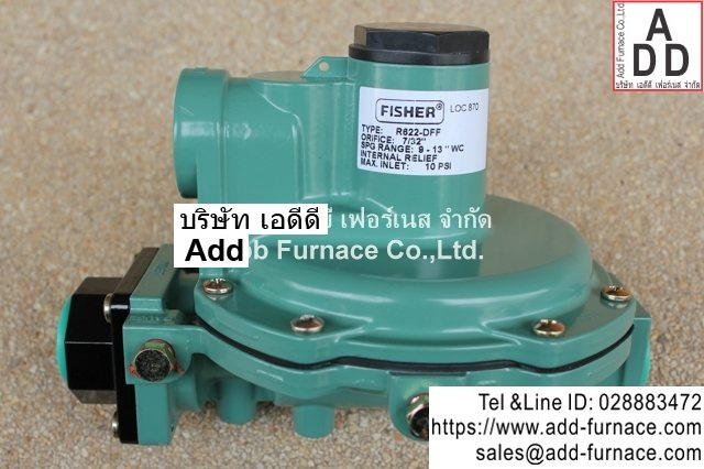fisher r622-dff | low pressure gas regulator