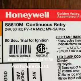 Honeywell S8610M Continuous Retry