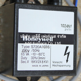 Honeywell Type S720A1016 Igntion Tranformer
