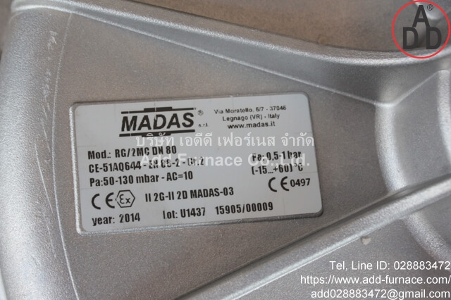 Madas RG/2MC DN80 (3)