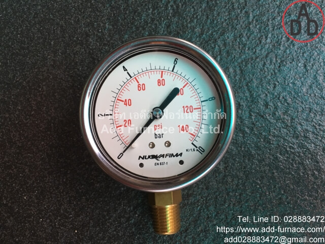 0~10Bar(0~145Psi) Nuova Fima Pressure Gauge(1)