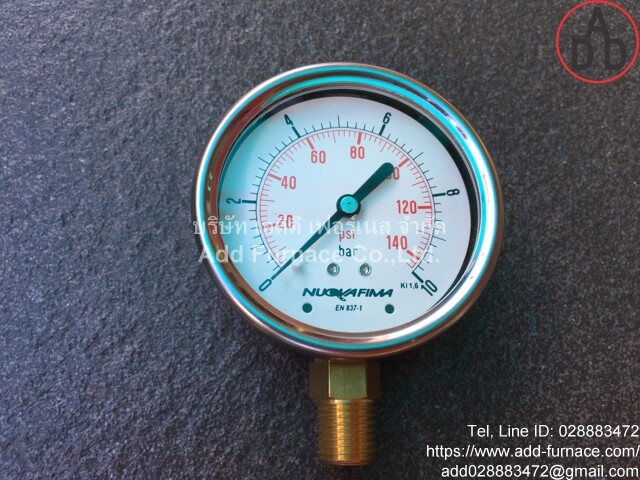 0~10Bar(0~145Psi) Nuova Fima Pressure Gauge(13)