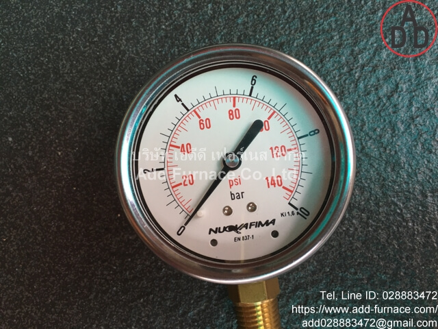 0~10Bar(0~145Psi) Nuova Fima Pressure Gauge(5)